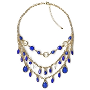Studio S 3 Row Stone Necklace at Sears.com