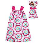 What A Doll Girl's Sun Bursts A-line Dress with Matching Doll Outfit