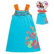 What A Doll Girl's Small Flowers A-line Dress with Matching Doll Outfit at Kmart.com