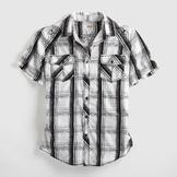 Route 66 Men's Western Shirt - Plaid at mygofer.com