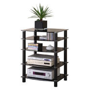 Walker Edison Multi-Level Black Glass Component Stand at Kmart.com