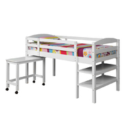 Walker Edison Solid Wood Twin White Loft Bed at Kmart.com