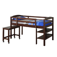 Walker Edison Solid Wood Twin Espresso Loft Bed at Kmart.com