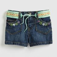 Route 66 Infant & Toddler Girl's Embroidered Shorts & Belt at Kmart.com