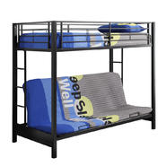 Walker Edison Metal Twin Futon Black Bunk Bed at Kmart.com