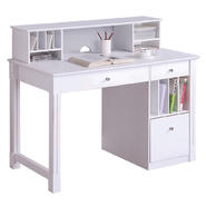 Walker Edison Deluxe White Wood Computer Desk with Hutch at Kmart.com