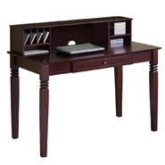 Walker Edison Elegant Walnut Brown Wood Desk with Hutch at Kmart.com