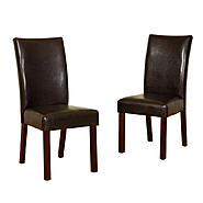Walker Edison Faux Leather Brown Dining Chairs (Set of 2) at Kmart.com