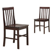 Walker Edison Espresso Wood Dining Chairs (Set of 2) at Kmart.com