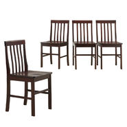 Walker Edison Espresso Wood Dining Chairs (Set of 4) at Kmart.com