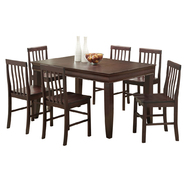 WalkerEdison Espresso Wood 7-Piece Dining Set at Kmart.com