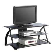 Walker Edison 48 in. Black Glass TV Stand at Kmart.com