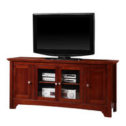 Walker Edison 52 in. Brown Wood TV Stand with Four Doors at Sears.com