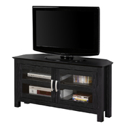 Walker Edison 44 in. Black Wood Corner TV Stand at Kmart.com