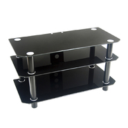 Walker Edison 42 in. Black Glass TV Stand at Kmart.com