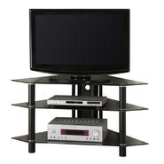 Walker Edison 44 in. Black Glass Corner TV Stand at Kmart.com