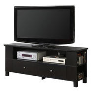 Walker Edison 60 in. Black Wood TV Stand with Multi-Purpose Storage at Kmart.com