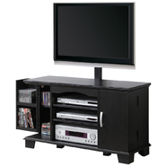 Walker Edison 42 in. Black Wood TV Stand with Mount and Storage at Kmart.com