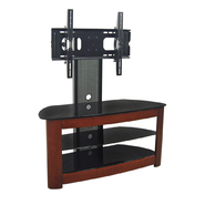 Walker Edison 42 in. Black Corner TV Stand with Wood accents and Removable Mount at Kmart.com