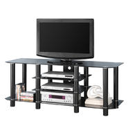 Walker Edison 60 in. Black Glass TV Stand at Kmart.com