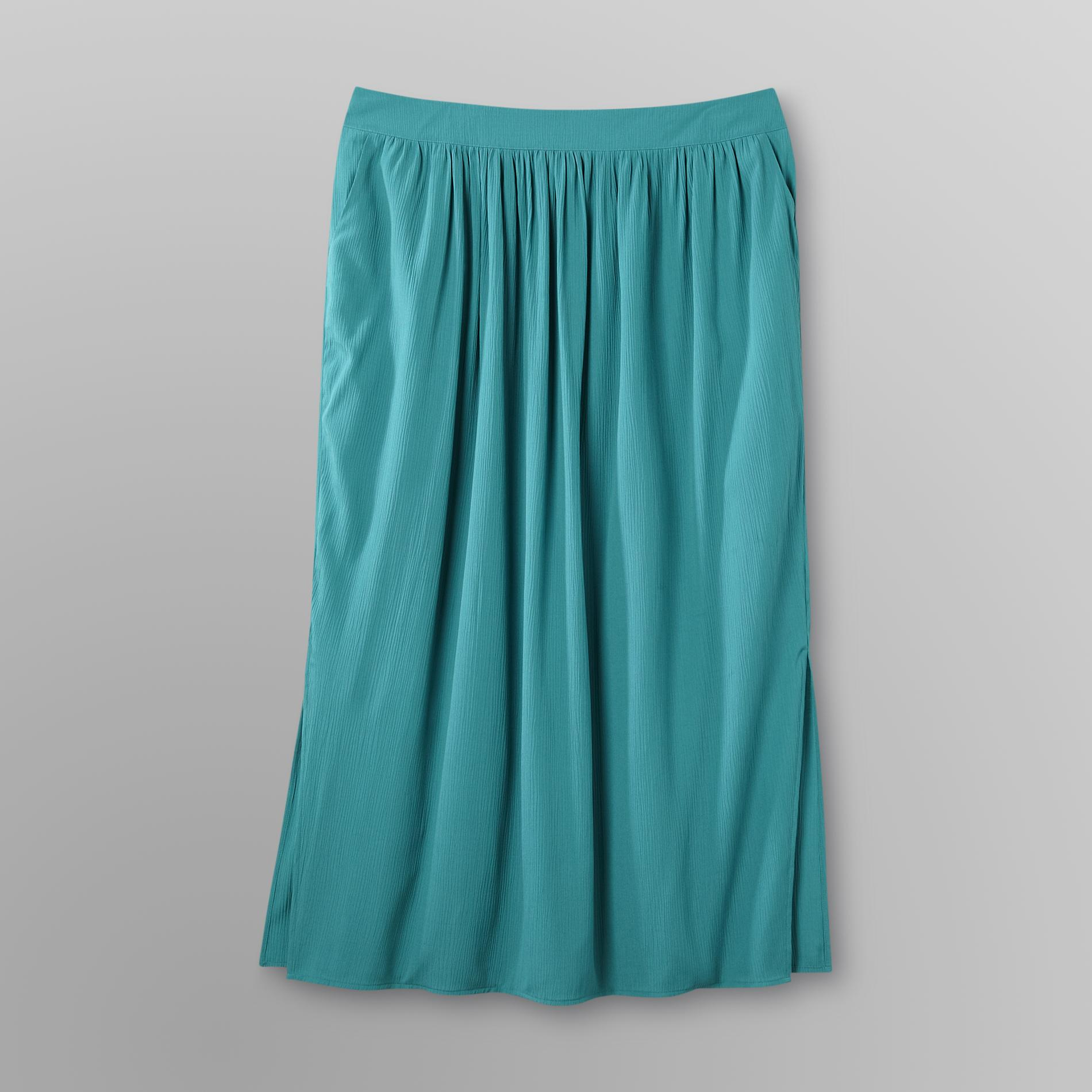 Jaclyn Smith Women's Plus Crepon Maxi Skirt at Kmart.com