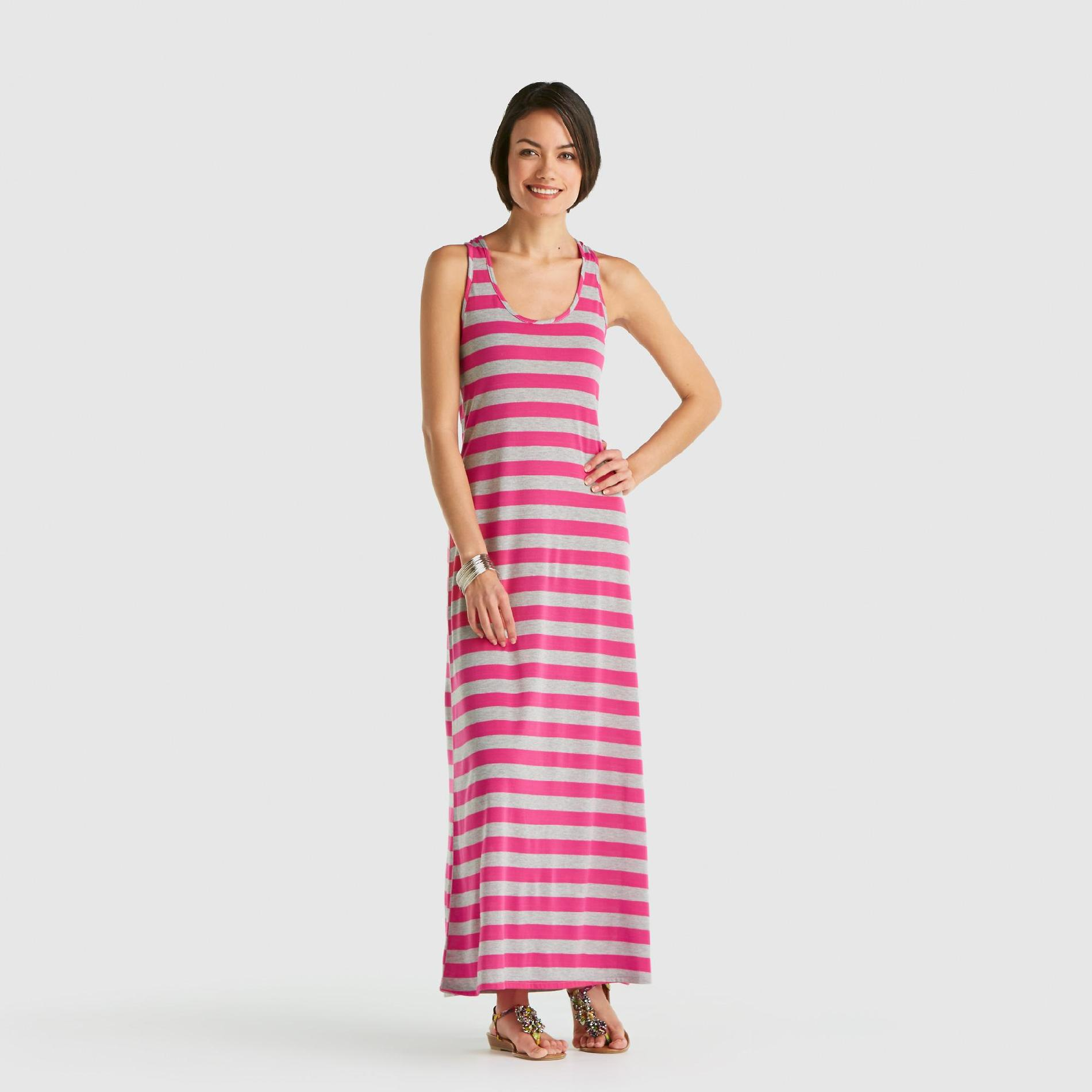 Goddess Junior's Tank Maxi Dress - Striped at Sears.com