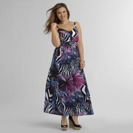 Love Your Style, Love Your Size Women's Plus Maxi Dress - Floral & Animal Print at Kmart.com