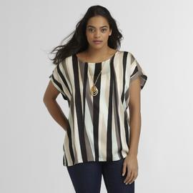 Love Your Style, Love Your Size Women's Plus Top - Stripe at Kmart.com