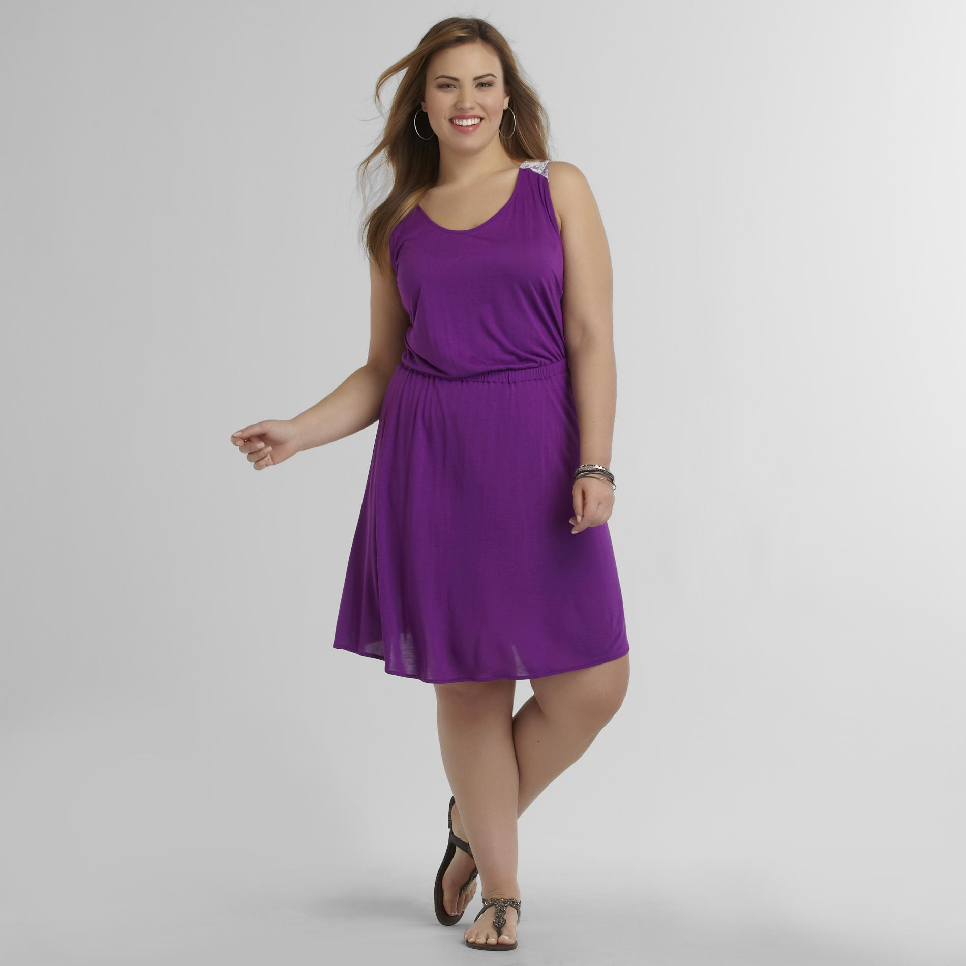 Love Your Style, Love Your Size Women's Plus Lace Back Tank Dress at Kmart.com
