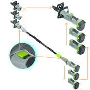 Earthwise 8 Inch Cordless Convertible 2-in-1 Pole Chain Saw at Sears.com