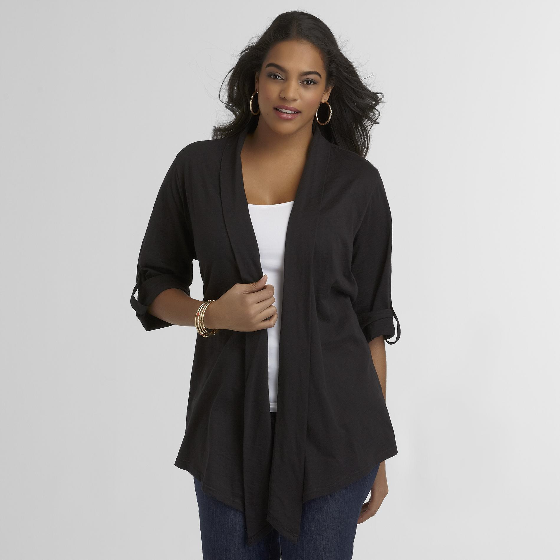 Basic Editions Women's Plus Knit Cardigan at Kmart.com