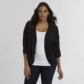 Basic Editions Women's Plus Pointelle Cardigan at Kmart.com