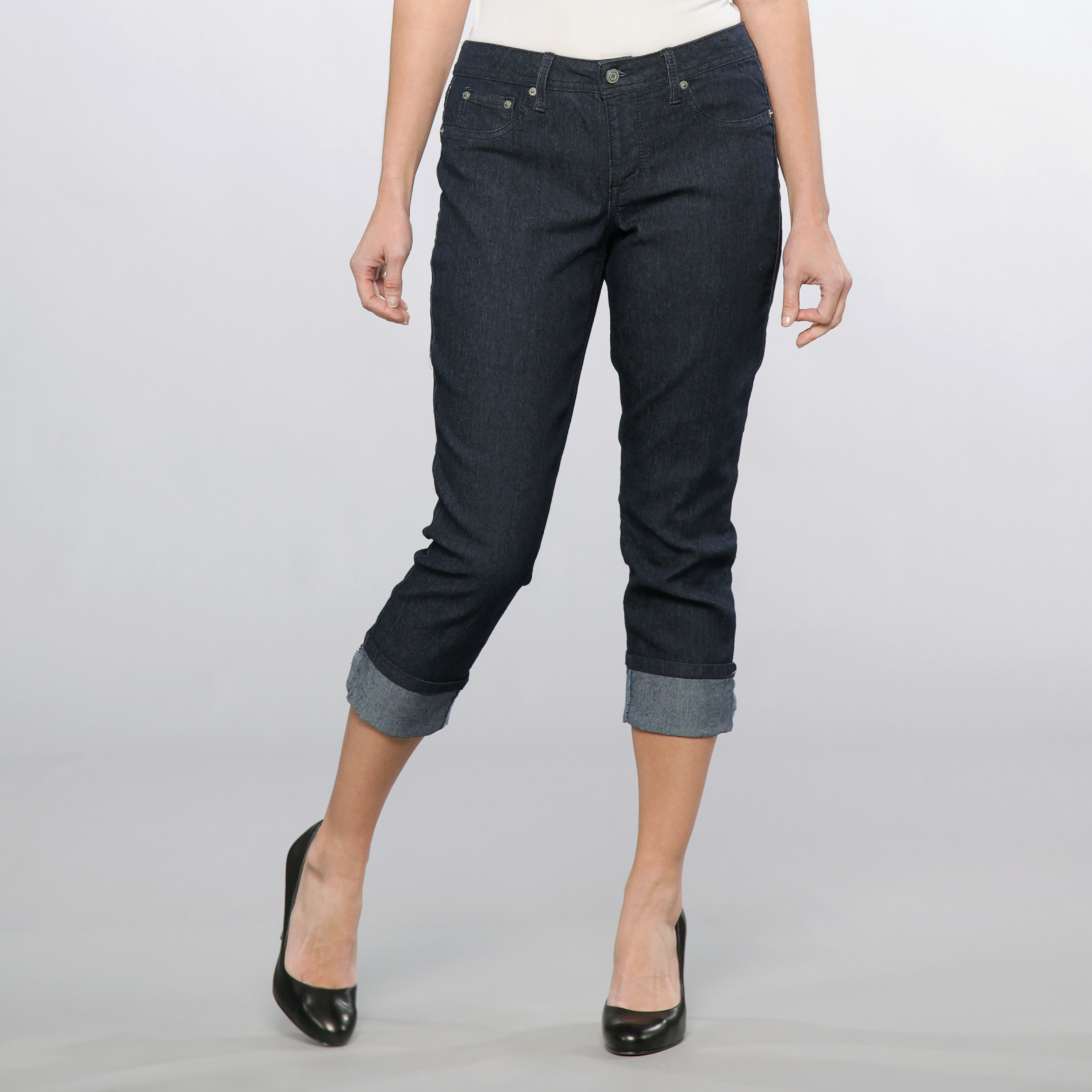Canyon River Blues Women's Cuffed Cropped Denim Pants at Sears.com