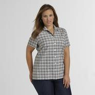 Basic Editions Women's Seersucker Shirt at Kmart.com