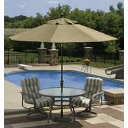 Swim Time Catalina II  9 ft. Octagonal Market Umbrella w/ Auto-Tilt in Stone Olefin at Sears.com