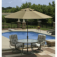 Swim Time Catalina II  9 ft. Octagonal Market Umbrella w/ Auto-Tilt in Stone Olefin at Kmart.com
