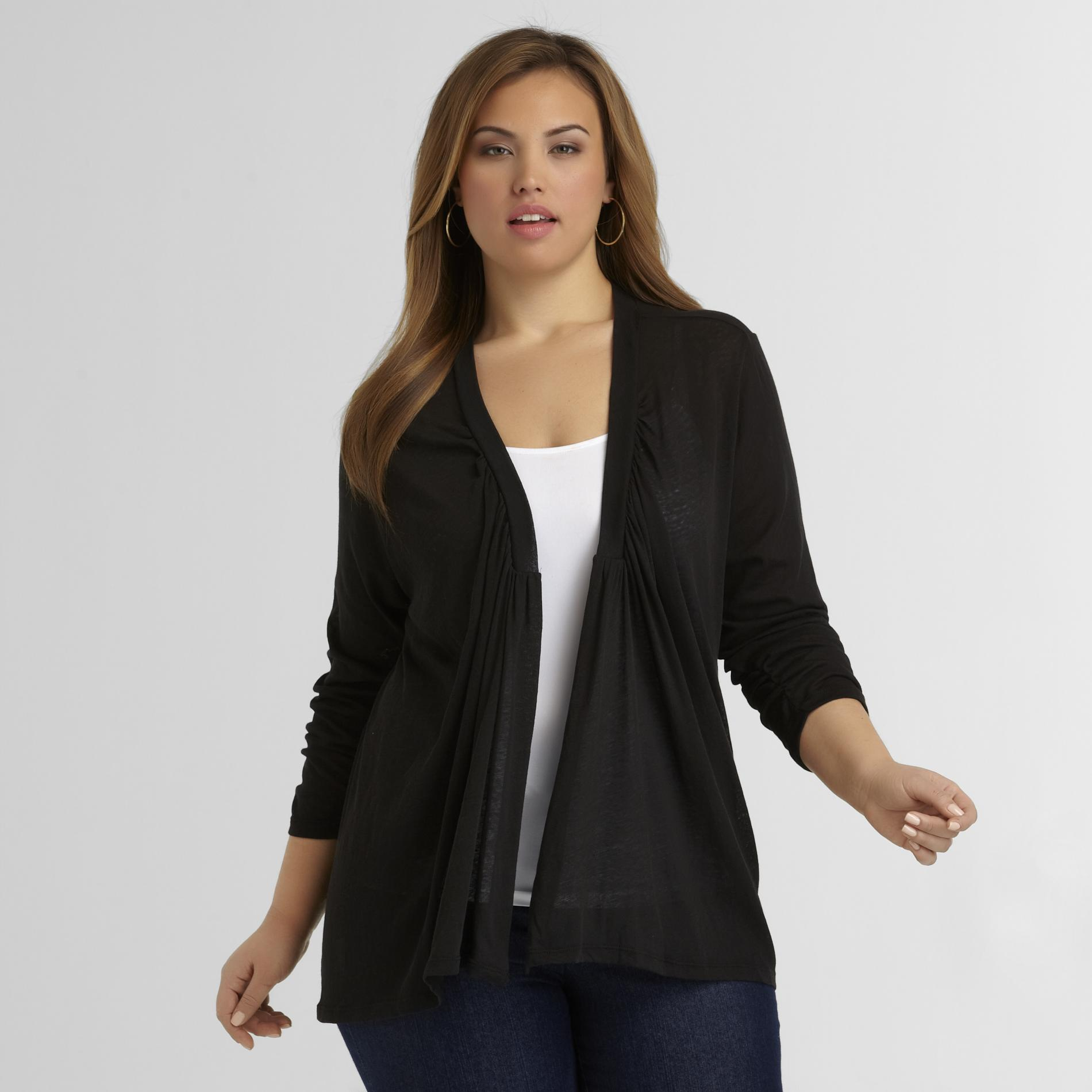Love Your Style, Love Your Size Women's Plus Semi-Sheer Cardigan at Kmart.com