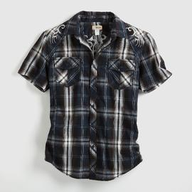 Route 66 Men's Plaid Shirt - Embroidered at Kmart.com