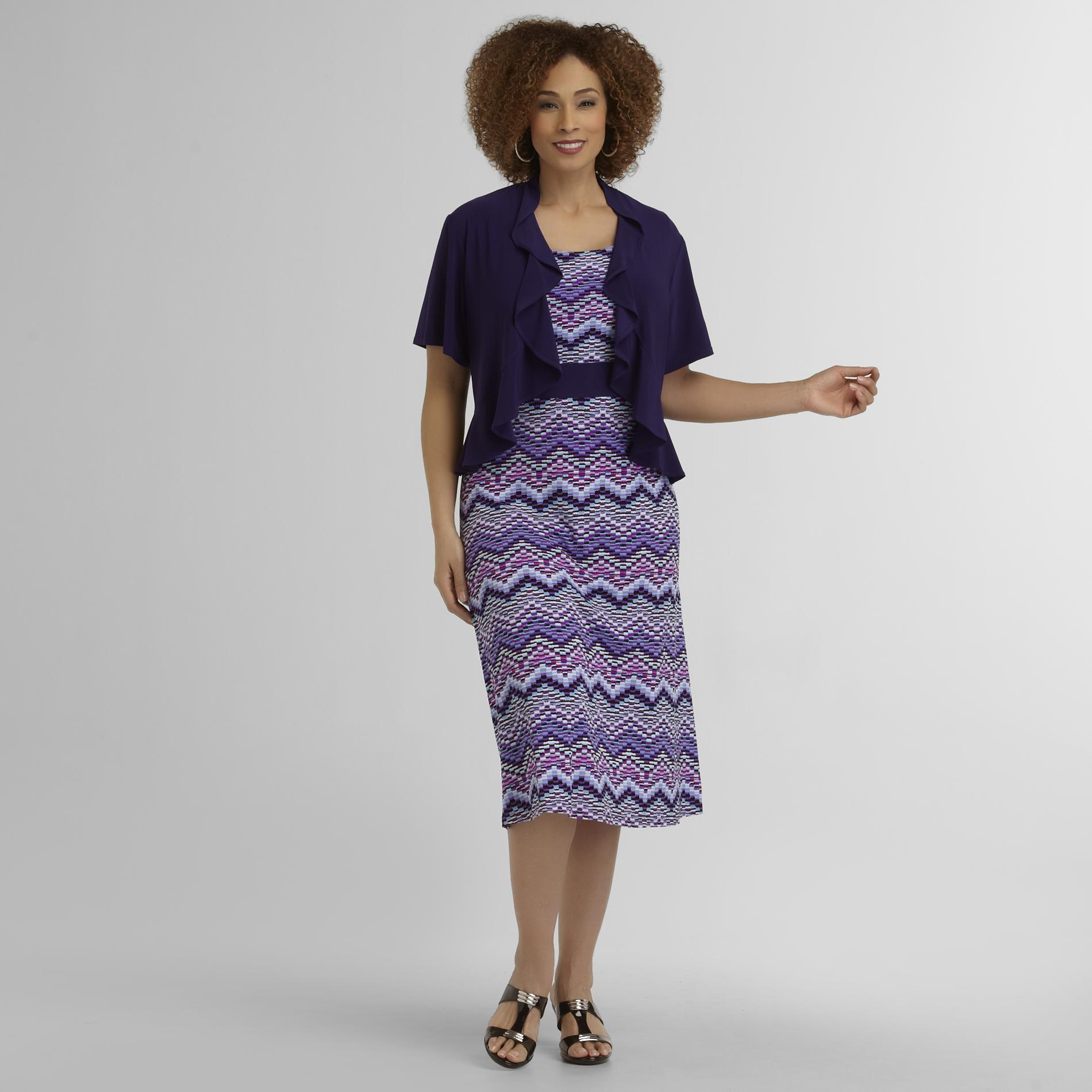 R & M Richards Women's Plus Dress & Jacket - Chevron at Sears.com