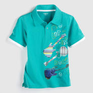 Toughskins Boy's Graphic Polo Shirt - Guitars at Sears.com