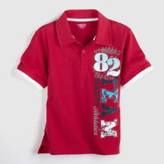 Toughskins Boy's Graphic Polo Shirt - Varsity at Sears.com