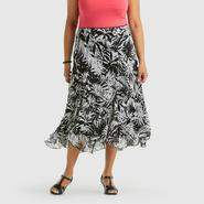 Notations Women's Plus Flutter Skirt - Hibiscus at Sears.com