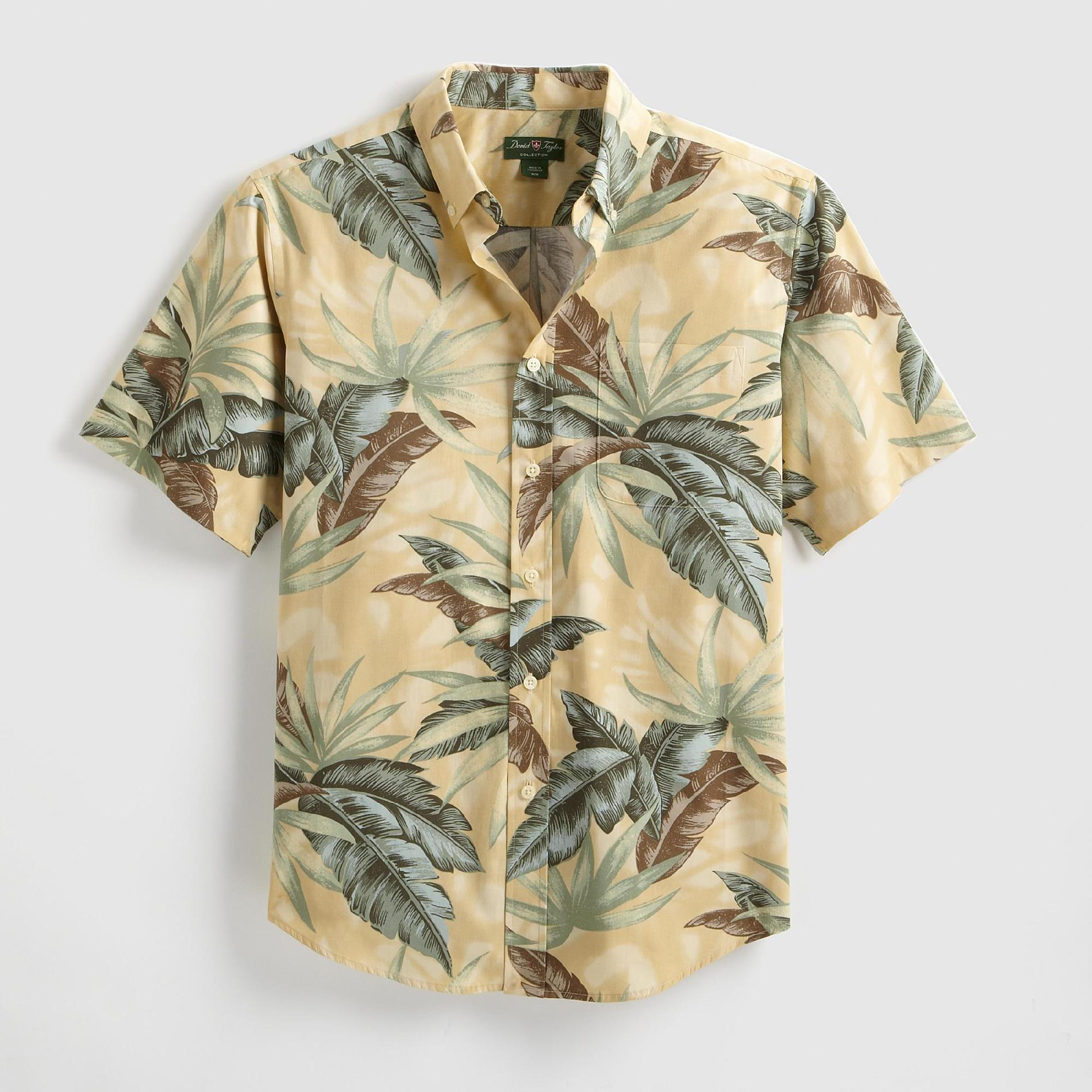 David Taylor Men's Woven Shirt - Palm Fronds at Kmart.com