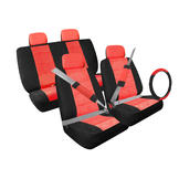 13 piece Car Make-over Kit Black/Red Microfiber at mygofer.com