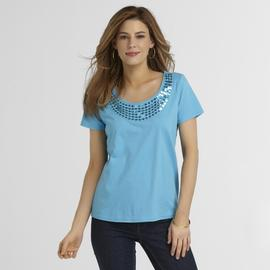 Basic Editions Women's Sequin T-Shirt at Kmart.com