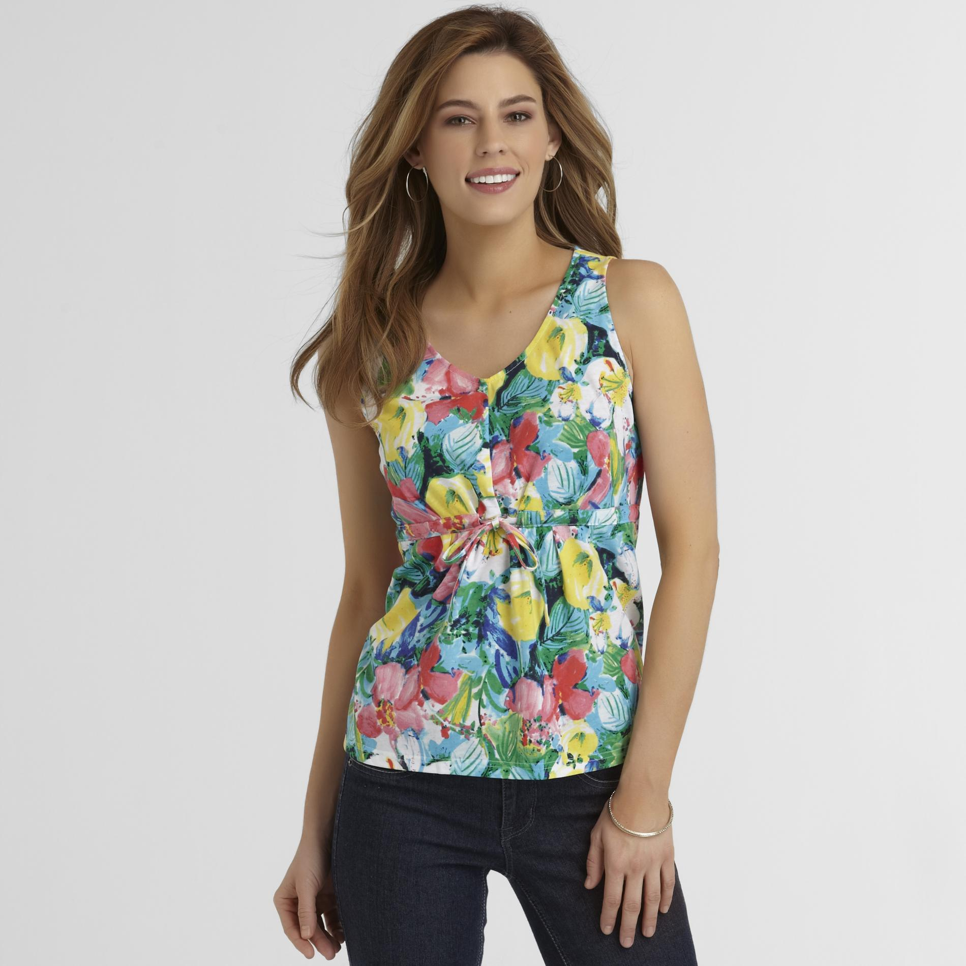 Basic Editions Women's Tank Top - Floral at Kmart.com