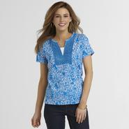 Basic Editions Women's Crochet Top - Floral at Kmart.com