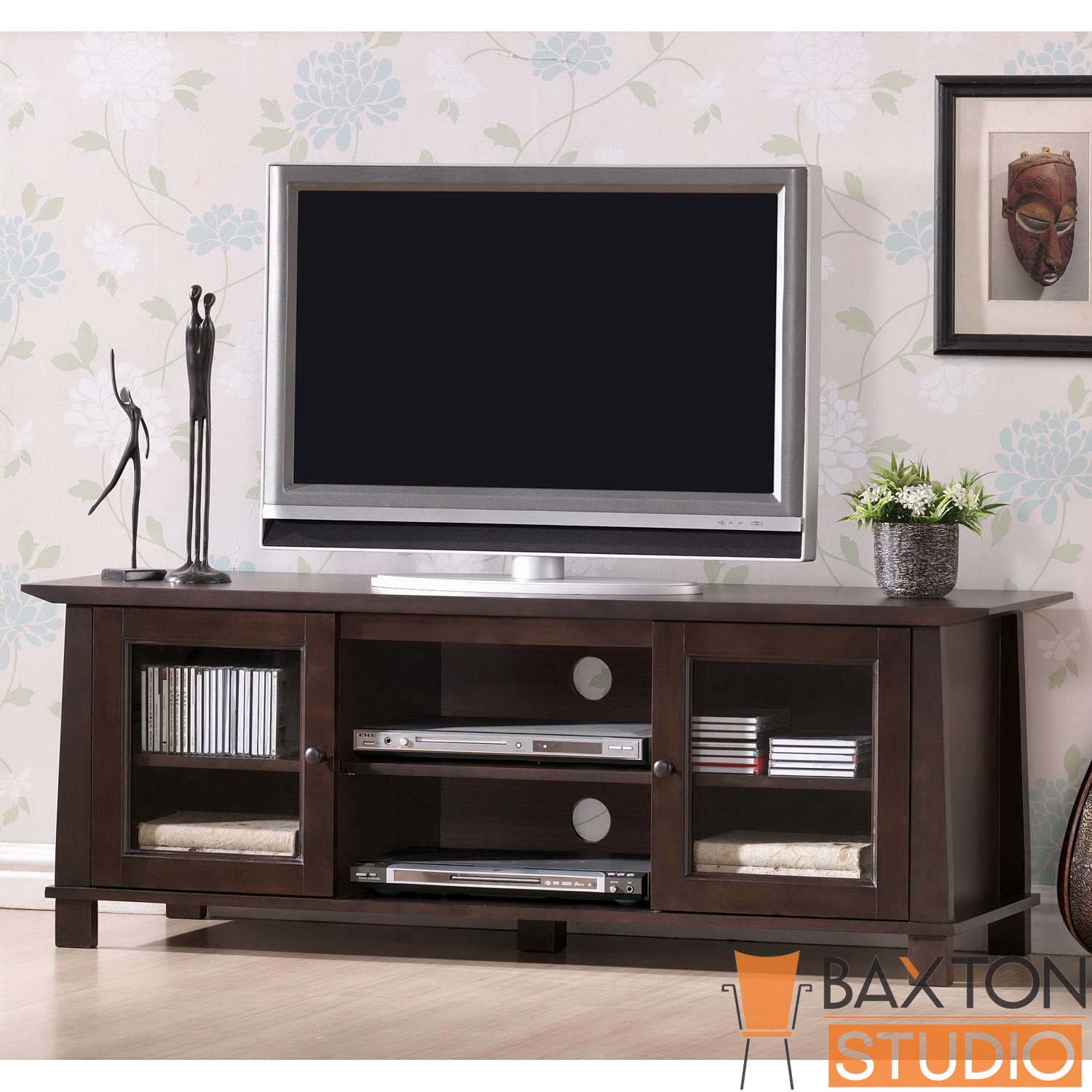 Baxton  Havana Brown Wood Modern TV