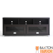 Baxton Swindon Modern TV Stand with Glass Doors at Sears.com