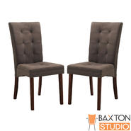 Baxton Anne Brown Fabric Modern Dining Chair (Set of 2) at Kmart.com